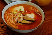 番茄菌菇豆腐汤的做法
