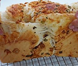 香葱肉松手撕面包的做法