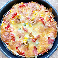#晒出你的团圆大餐#田园风披萨的做法图解7