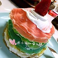 草莓彩虹千层蛋糕(追逐天空之美)的做法图解20