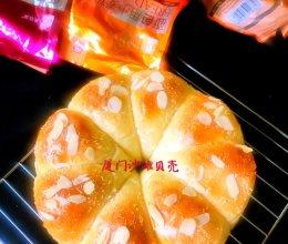 超软的牛奶花环面包的做法