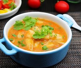 酸甜番茄狭鳕鱼汤的做法