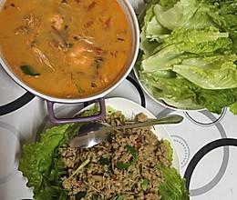 泰式生菜包肉碎的做法