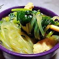 #一道菜表白豆果美食#粉条鲜肉菠菜汤的做法图解13
