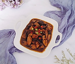 红烧鸡块——简易版小鸡炖蘑菇的做法
