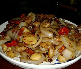 香辣洋葱小虾的做法