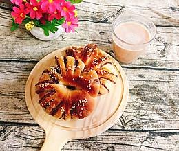 豆沙花环面包的做法