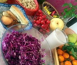 凉拌紫甘兰的做法