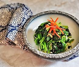 快手凉拌菜系列-凉拌菠菜的做法