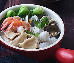 金汤海鲜面疙瘩的做法