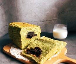 【夏日一抹绿】抹茶豆沙吐司的做法