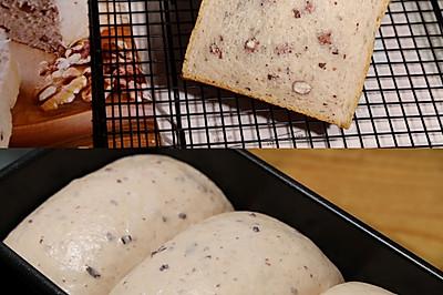 软糯糯的紫米红豆吐司