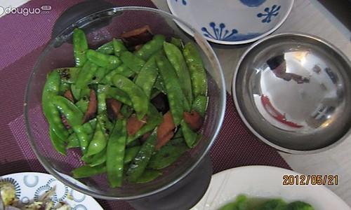 荷兰豆炒腊肉的做法