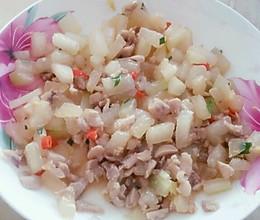 冬瓜炒鸡丁(孕妇食谱)清淡可口,营养丰富的做法