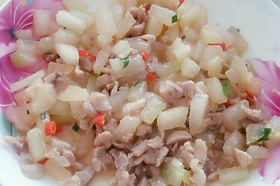 冬瓜炒鸡丁(孕妇食谱)清淡可口,营养丰富