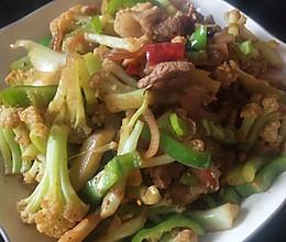 #美食视频挑战赛# 干锅菜花的做法