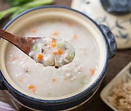 芋头三鲜粥的做法