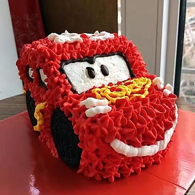 汽车总动员之麦昆汽车生日蛋糕