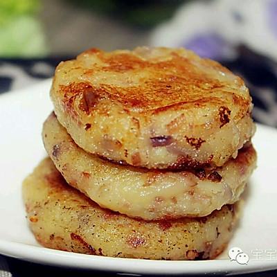 香浓绵软,适合宝宝的西式能量小饼  | 培根洋葱土豆饼