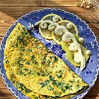 快手早餐——菠菜胡萝卜鸡蛋饼的做法图解6