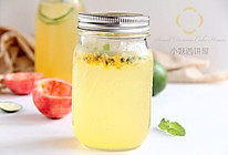 百香果柠檬气泡水的做法