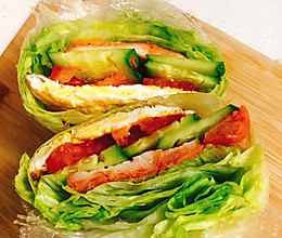 关晓彤同款蔬菜三明治,真的好吃!的做法
