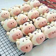 #福气年夜菜#丑萌奶牛豆沙面包
