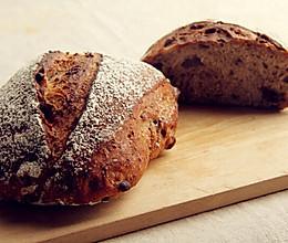 农家玫瑰红豆面包的做法