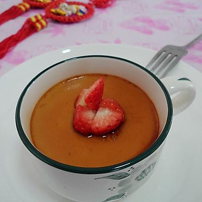 草莓焦糖蛋奶布丁