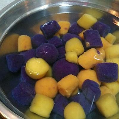椰汁三色芋圆的做法 步骤7