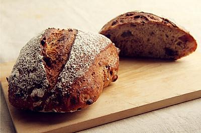 农家玫瑰红豆面包