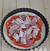 厚底鲜虾培根披萨的做法图解10