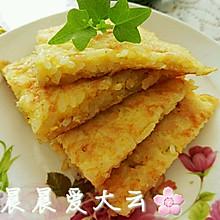 【胃口大开的美味早餐】☞之一米饭鸡蛋饼