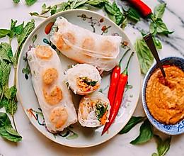 初夏一般清新透明   越南鲜虾春卷的做法