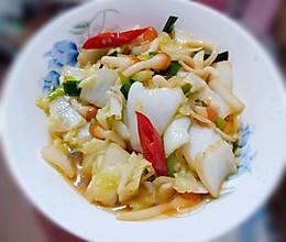 海蘑菇炒大白菜的做法