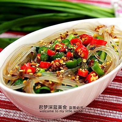 【粉条拌韭菜】--春天里的清肠养生菜