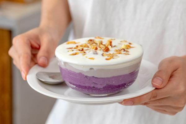 酸奶紫薯盒子|低脂饱腹