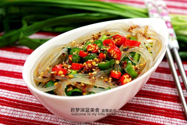 【粉条拌韭菜】--春天里的清肠养生菜的做法