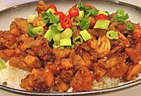 下饭菜-香辣鸡丁盖饭的做法