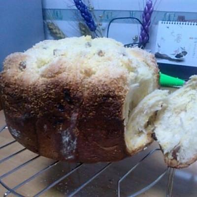 奶油葡萄干椰香吐司面包(aca面包机)