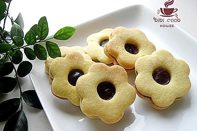 【蓝莓QQ糖果酱夹心饼干】#长帝烘焙节#