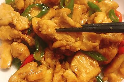 辣炒鸡胸肉,大概是我吃过最好吃的鸡胸肉。