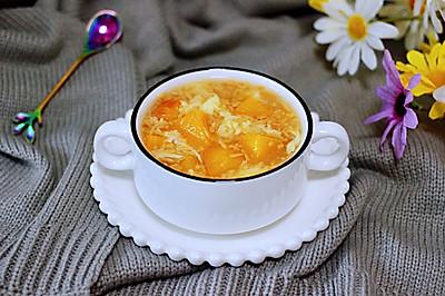 黄桃酒酿蛋花羹