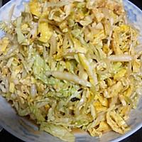 凉拌菜——大白菜鸡蛋的做法图解3