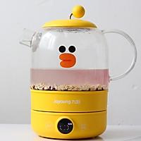 #憋在家里吃什么#比奶茶还要好喝的奶香红豆黑米粥的做法图解2