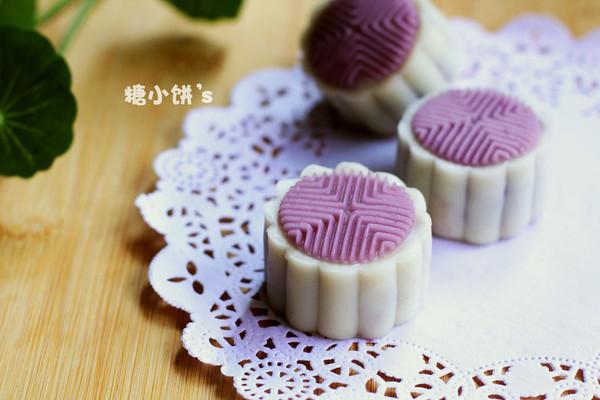 【紫薯冰皮月饼】的做法