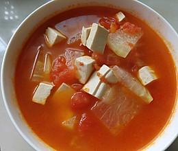 嫩豆腐冬瓜番茄汤的做法