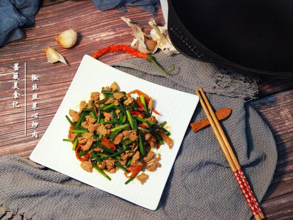 椒丝韭菜炒肉辣爽可口,一口气能吃两碗饭!的做法