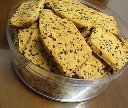 玉米面蜂蜜芝麻饼干。(爱粗粮,爱健康)的做法
