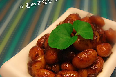 蒜香酱黄豆